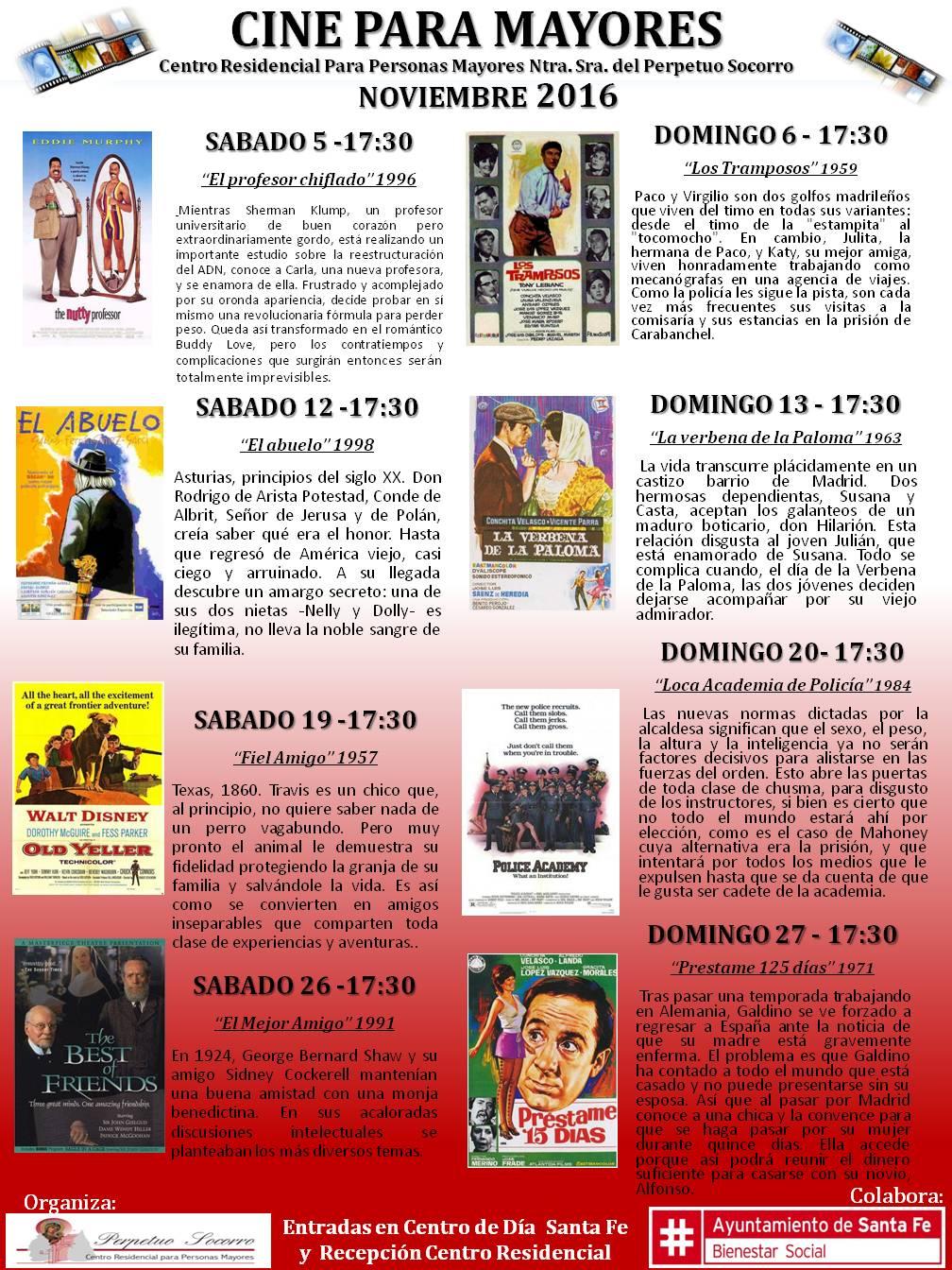 2 cine mayores noviembre