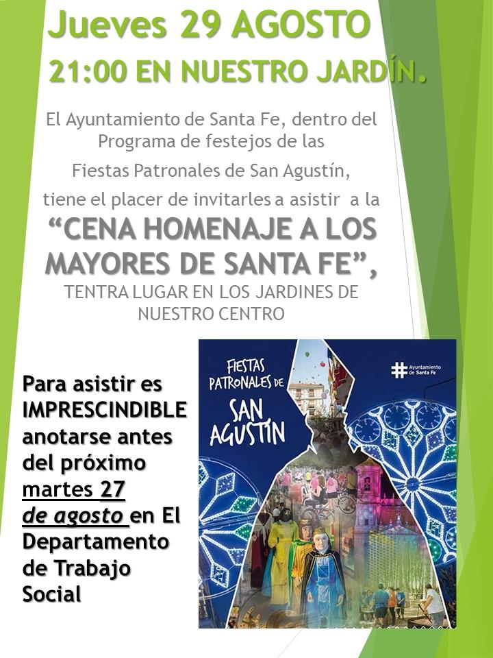 Cena homenaje a los Mayores de Santa Fe